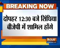 Jyotiraditya Scindia to join BJP at 12:30 pm today