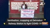 Sanitisation, mopping at Dehradun Railway Station to fight COVID-19