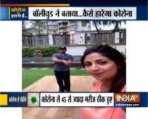 Shilpa Shetty works out with husband Raj Kundra amid lockdown
