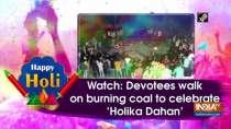 Watch: Devotees walk on burning coal to celebrate