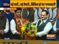 Jyotiraditya Scindia joins BJP, a day after quitting Congress