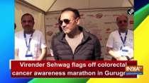 Virender Sehwag flags off colorectal cancer awareness marathon in Gurugram