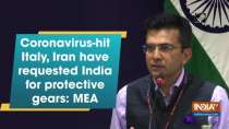 Coronavirus-hit Italy, Iran have requested India for protective gears: MEA