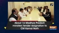 About 16 Madhya Pradesh ministers tender resignation to CM Kamal Nath