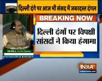 Budget Session: Lok Sabha adjourned till 2 pm following uproar over Delhi violence