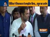 Jyotiraditya Scindia abandoned his ideology, went with RSS: Rahul Gandhi