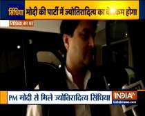 Jyotiraditya Scindia arrives at his residence in Delhi