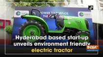 Hyderabad based start-up unveils environment friendly electric tractor
