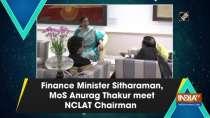 Finance Minister Sitharaman, MoS Anurag Thakur meet NCLAT Chairman