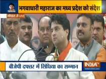 In his first speech after joining BJP, Jyotiraditya Scindia tears into Congress