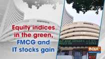 Equity indices in the green, FMCG and IT stocks gain