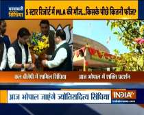 MP: Hoardings put up near BJP party office in Bhopal to welcome Scindia