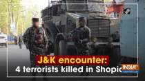 J and K encounter: 4 terrorists killed in Shopian