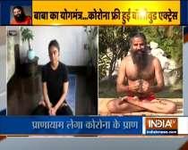 Swami Ramdev shares yogasanas to strengthen immunity with actress Zoa Morani