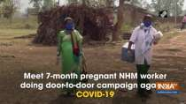 Meet 7-month pregnant NHM worker doing door-to-door campaign against COVID-19