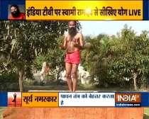 Zoa Morani, Swami Ramdev show the correct way to do Surya namaskar
