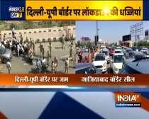 Lockdown 2.0: Heavy traffic jam seen at Delhi-Ghaziabad border