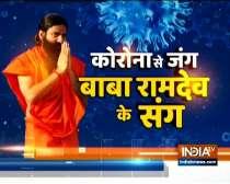 Swami Ramdev gives yoga tips to COVID-19 survivor Zoa Morani to avoid relapse