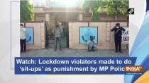 Watch: Lockdown violators made to do