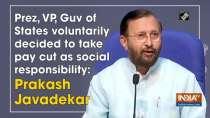 Prez, VP, Guv of States voluntarily decided to take pay cut as social responsibility: Prakash Javadekar