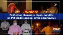 Watch: Politicians illuminate diyas, candles on PM Modi
