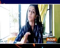 TV actress Megha Chakraborty shows how to make masks at home