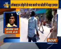 Locals attacked policemen while they were trying to enforce Coronavirus Lockdown in Bareilly today
