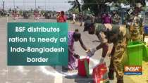 BSF distributes ration to needy at Indo-Bangladesh border