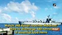Watch: INS Kesari reaches Maldives