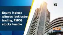 Equity indices witness lacklustre trading, FMCG stocks tumble
