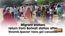 Migrant workers return from Borivali station after