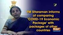 FM Sitaraman informs of comparing