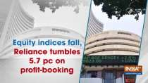 Equity indices fall, Reliance tumbles 5.7 pc on profit-booking