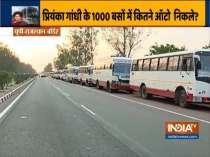 Congress buses bringing migrant laborers stuck at UP-Rajasthan border