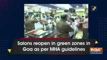 Salons reopen in green zones in Goa as per MHA guidelines