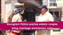 Gurugram Police surprise elderly couple, bring marriage anniversary cake