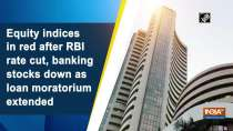 Equity indices in red after RBI rate cut, banking stocks down as loan moratorium extended