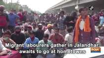 Migrant labourers gather in Jalandhar, awaits to go at hometowns