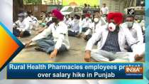 Rural Health Pharmacies employees protest over salary hike in Punjab