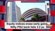 Equity indices erase early gains, Nifty PSU bank falls 3.2 pc