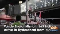 Vande Bharat Mission: 163 Indians arrive in Hyderabad from Kuwait
