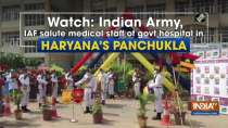 Watch: Indian Army, IAF salute medical staff of govt hospital in Haryana