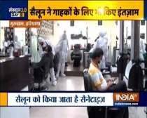 Haryana: Salons opened in Green and Orange zones with proper precautions