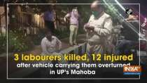 3 labourers killed, 12 injured after vehicle carrying them overturned in UP