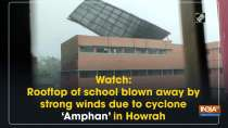 Watch: Rooftop of school blown away by strong winds due to cyclone
