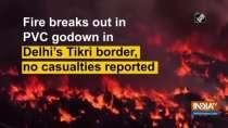 Fire breaks out in PVC godown in Delhi