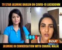 TV actress Jasmin Bhasin talks exclusively to Saas Bahu Aur Suspense about her lockdown days