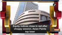 Equity indices close in red after choppy session, Asian Paints top loser