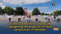 Silent protest held outside UN highlighting the plight of Christian persecution in Pakistan