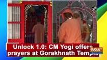 Unlock 1.0: CM Yogi offers prayers at Gorakhnath Temple